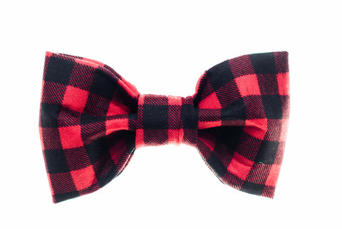 Small Buffalo Plaid Dog Bow Tie - 901