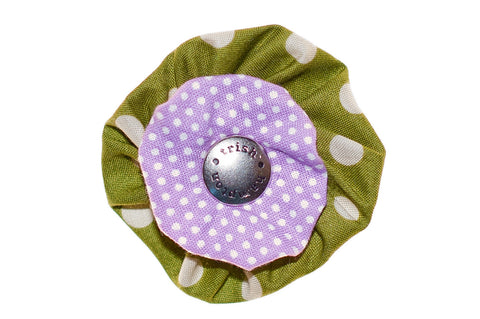 Olive/Lilac Dots - 821