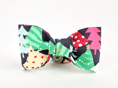 Trees Dog Bow Tie