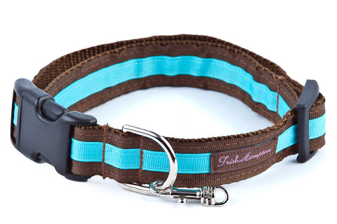 Chocolate/Turquoise Stripe