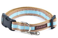 Tan/Light Blue Stripe - 307