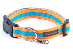 Neon Orange/Aqua Stripe - 314