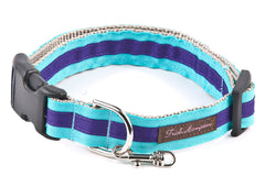 Turquoise/Deep Purple Stripe