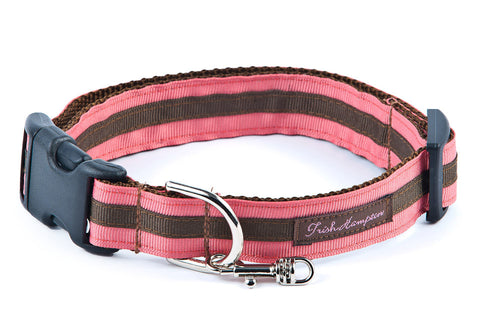 Coral/Chocolate Stripe - 322