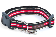 Red/Black/Tan Stripe   Dog Collar