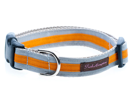 Grey/Orange Stripe