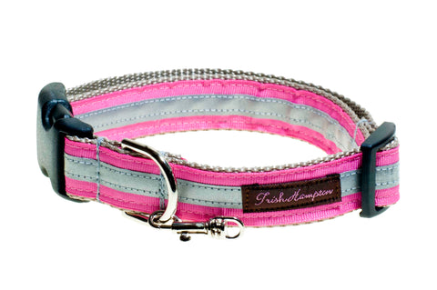 Pink Reflective - 3m - Dog Collar - 410