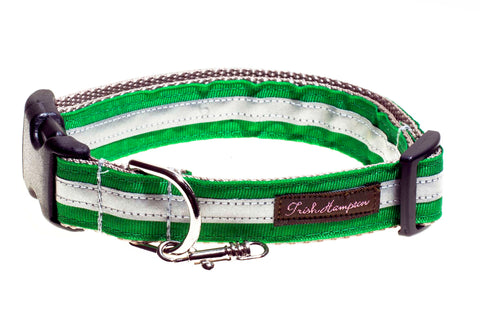 Kelly Green Reflective - 3m - Dog Collar - 411
