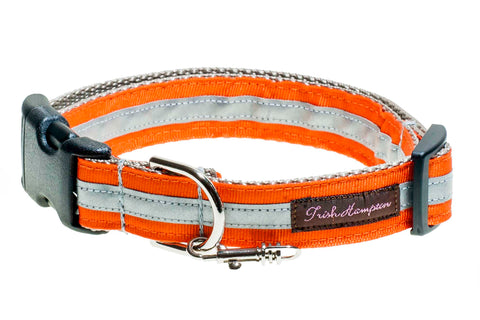 Orange Reflective  Dog Collar - 412