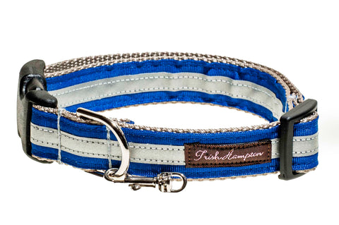 Royal Blue Reflective   Dog Collar - 413