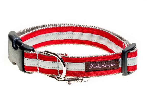 Red Reflective   Dog Collar - 414