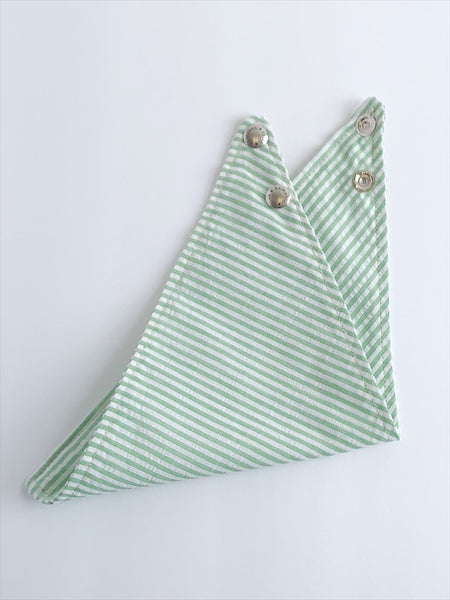 Green Seersucker Sale Dog Bandana - 1012