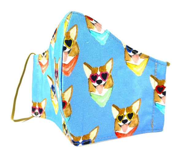 Corgi's Face Mask - 1020