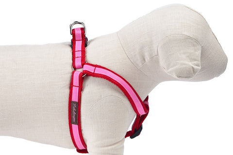 Red/Hot Pink Stripe Dog Harness - 325