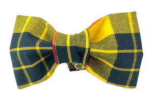 Yellow/Black/Red Plaid Dog Bow Tie - 760