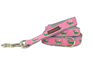 Pink/Green Whale 6ft Dog Leash - 751