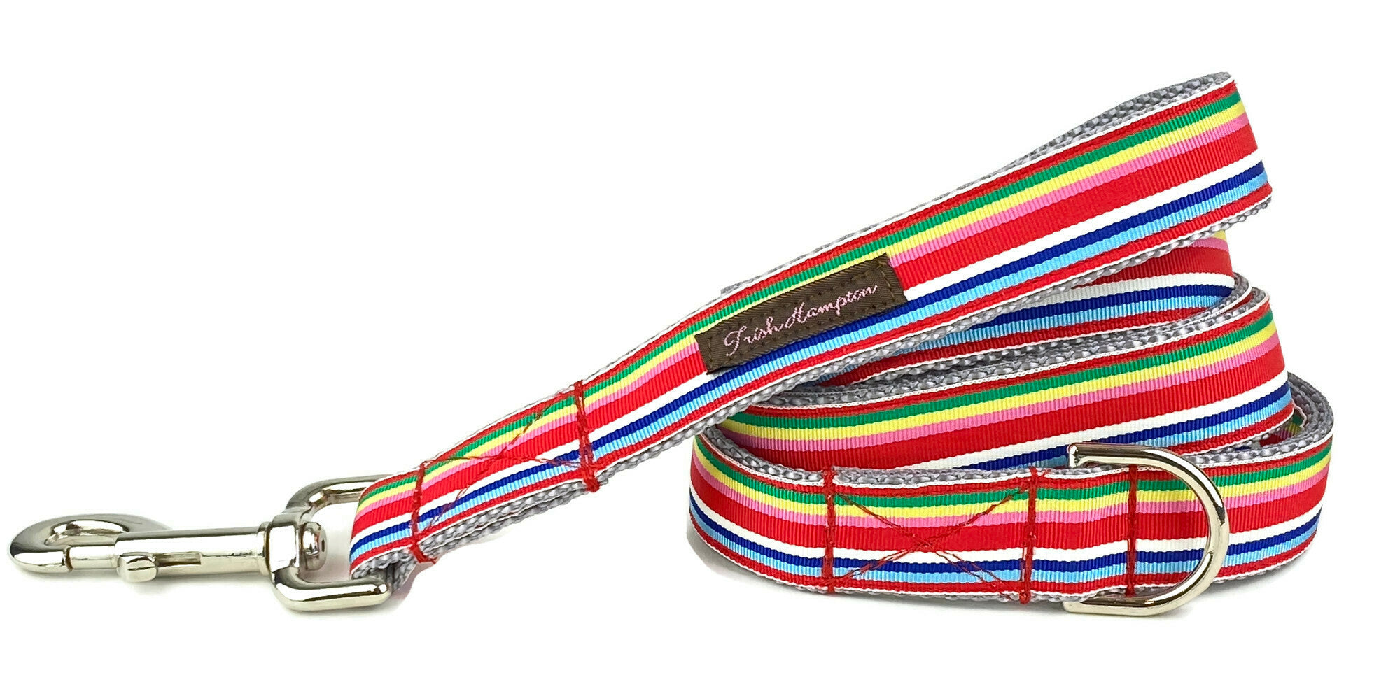 Red Multi Stripe 6ft Dog Leash - 768