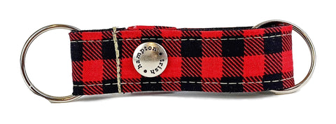Buffalo Plaid Snappy Keychain - 901