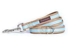 Tan/Light Blue Stripe