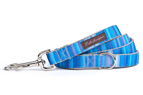 Blue Candy Stripe Dog Leash - 609