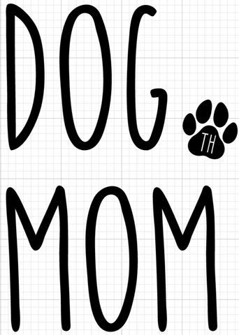 "Dog Mom Car Decal 5.5"" x 4"""