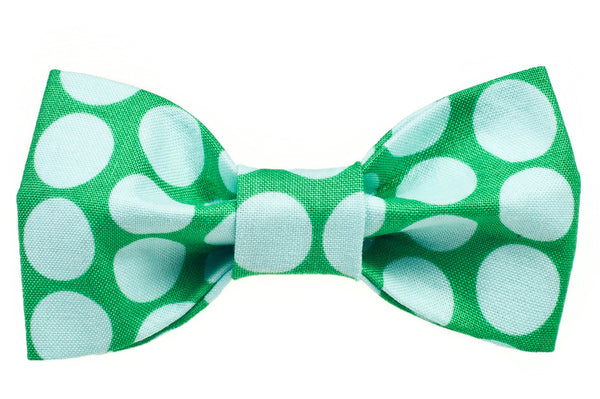 Big Green Dot Dog Bow Tie - 946