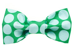 Big Green Dots Dog Bow Tie - 946