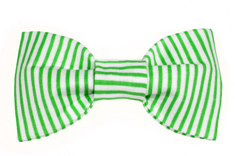 Bright Green Pin Stripe Dog Bow Tie - 942
