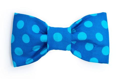 Blue Polka Dot Dog Bow Tie - 960
