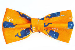 Whale's Tail Orange Dog Bow Tie - 930