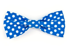 Royal/White Dots Dog Bow Tie - 921
