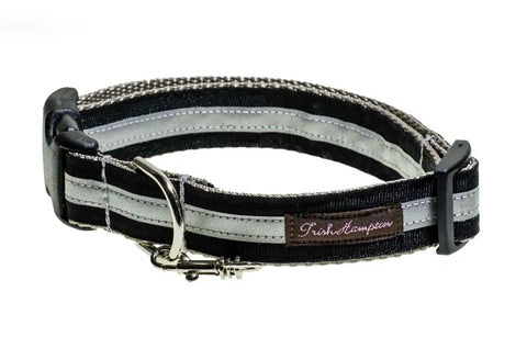 Black Reflective Dog Collar - 3m - 417