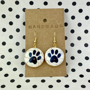 Paw Print Bead Earrings - Sam's Crafts