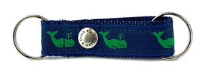 Navy/Green Whales Snappy Keychain - 750