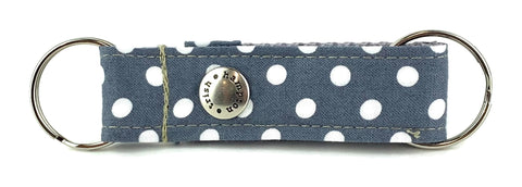 Grey/White Polka Dot Snappy Keychain - 511