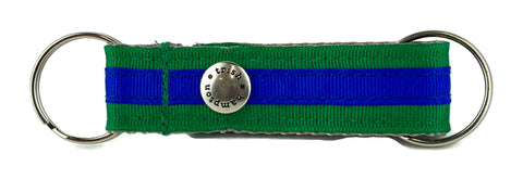 Kelly Green/Bright Blue Stripe Snappy Keychain - 326