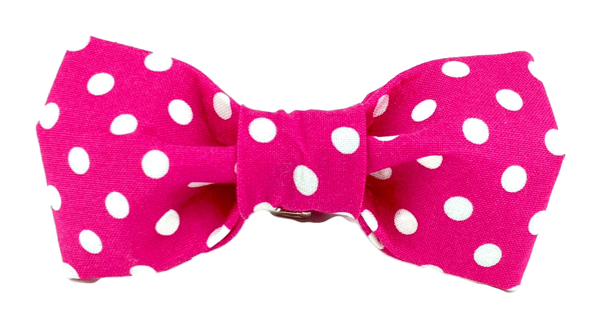 Hot Pink/ White Polka Dot Dog Bow Tie - 504