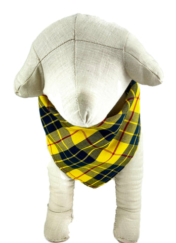 Yellow Tartan Plaid Dog Bandana - 760