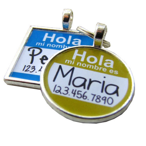 """Hola Mi Nombre Es"" Dog License Tag"