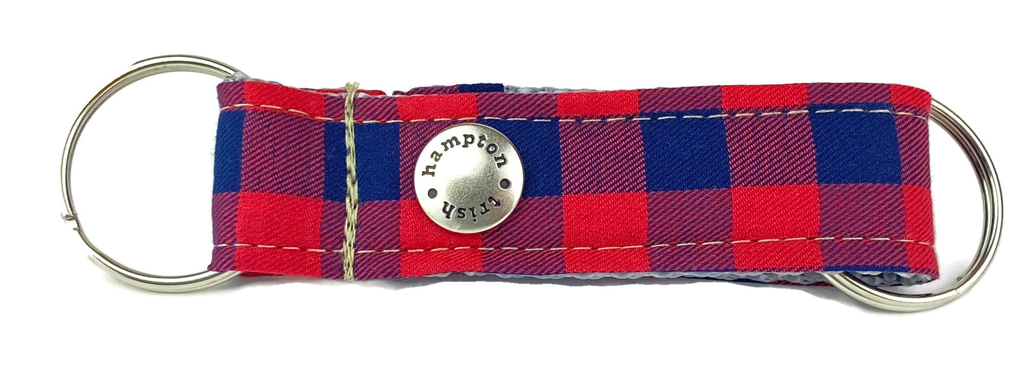 Navy/Red Plaid Snappy Keychain - 766