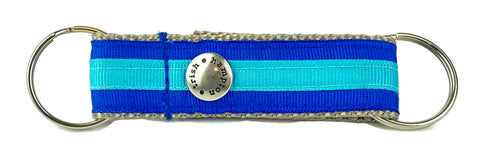 Blue/Aqua Stripe Snappy Keychain - 333
