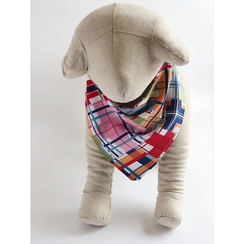 Madras Plaid Dog Bandana - 1003