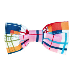 Madras Plaid Dog Bow Tie - 995