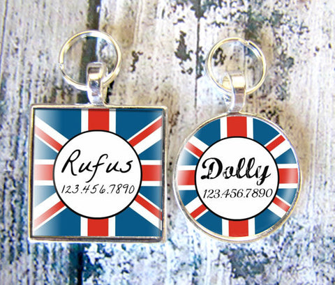 Union Jack Dog License Tag