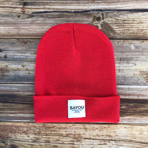 BAYOU BEANIE - Bright Red