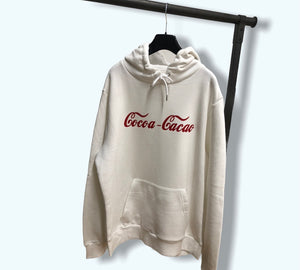 Cacao white hoodie