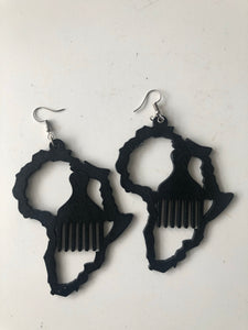 Motherland/Afro comb earrings