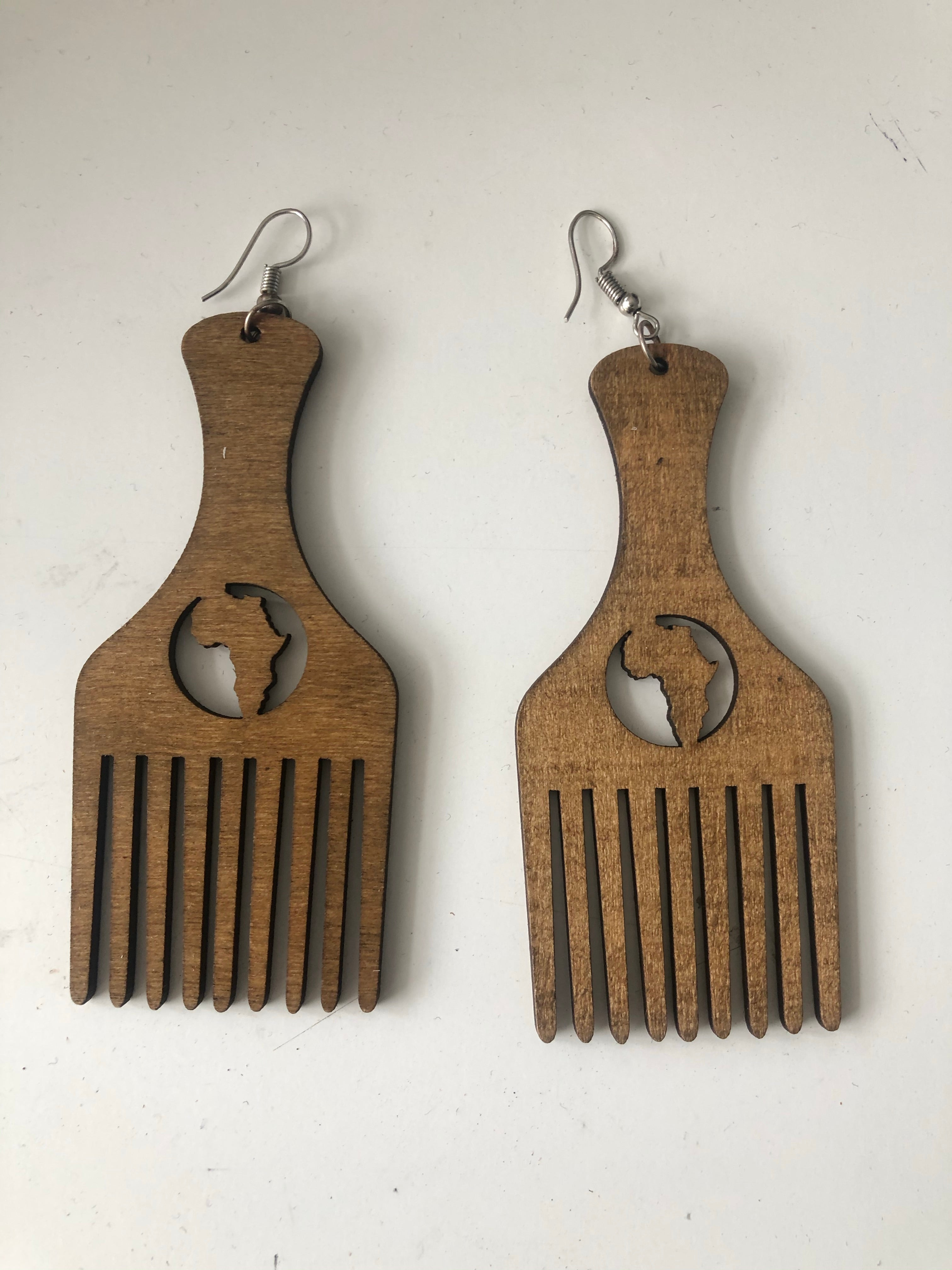 Afro comb earrings 1