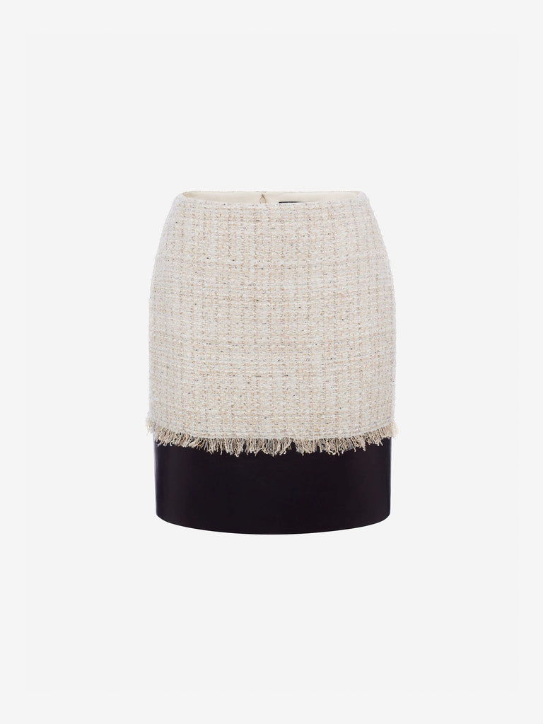 Alexander Mcqueen - Tweed Pencil Mini Skirt