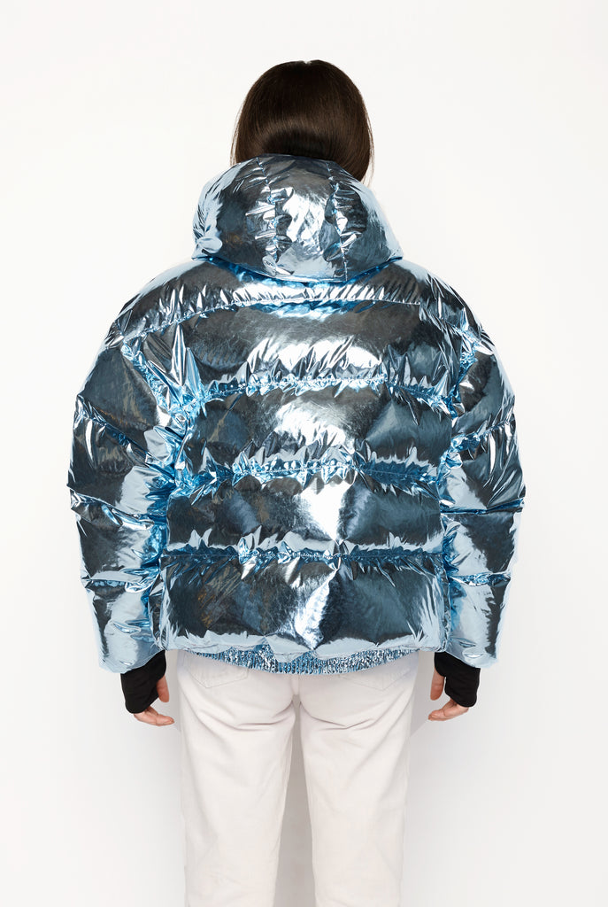 Ienki Ienki - Blue Metallic Puffer Jacket